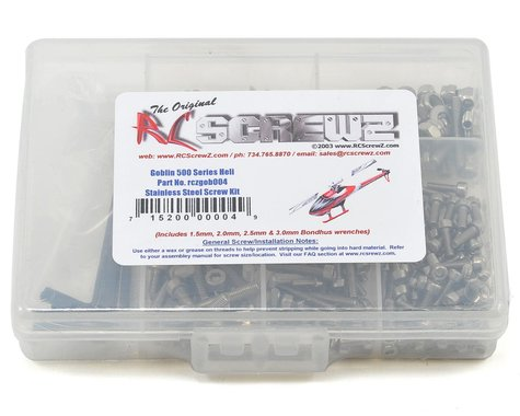 RC Screwz Goblin 500 Stainless Steel Screw Kit