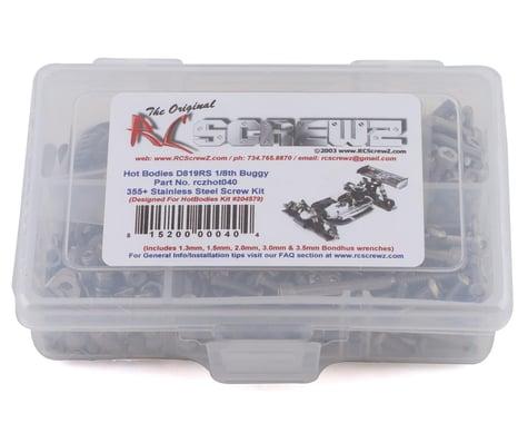 RC Screwz HotBodies D819RS Stainless Steel Screw Kit