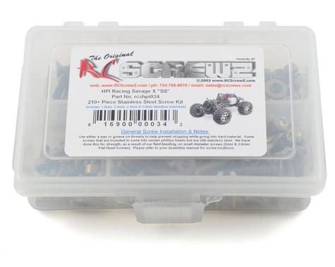 RC Screwz HPI Savage X SS Stainless Steel Screw Kit