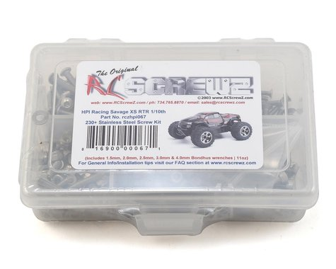 RC Screwz HPI Racing Savage XS Stainless Steel Screw Kit