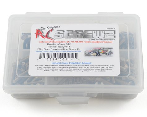 RC Screwz Kyosho Inferno GT 2 Stainless Steel Screw Kit