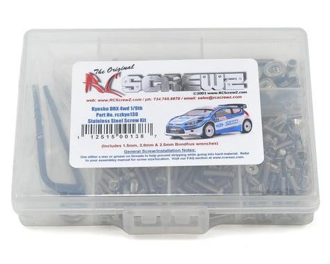 RC Screwz Kyosho DRX 4wd 1/9th Stainless Steel Screw Kit