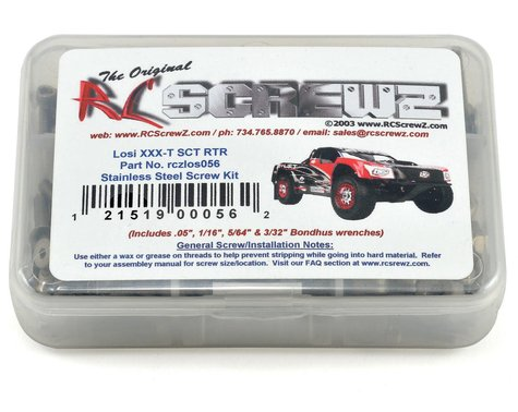 RC Screwz Team Losi XXX-T SCT Stainless Steel Screw Kit