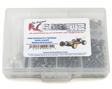 RC Screwz TLR 22-4 4wd Buggy Stainless Steel Screw Kit