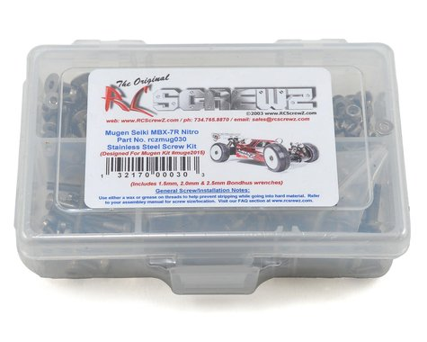 RC Screwz Mugen MBX7R Stainless Steel Screw Kit