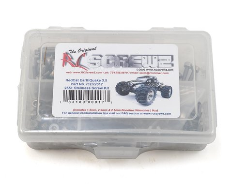 RC Screwz RedCat Racing Earthquake 3.5 Stainless Steel Screw Kit