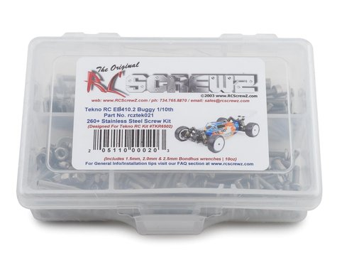 RC Screwz Tekno RC EB410 2.0 Stainless Steel Screw Kit