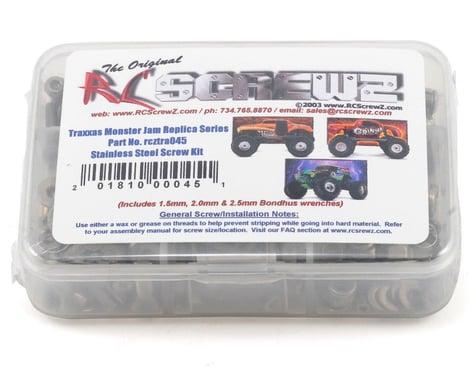 RC Screwz Traxxas Monster Jam Series Stainless Steel Screw Kit