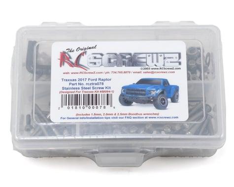 RC Screwz Stainless Steel Screw Kit Ford Raptor 2017 RCZTRA078