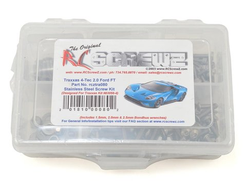 RC Screwz Traxxas 4-Tec 2.0 Ford GT Stainless Steel Screw Kit