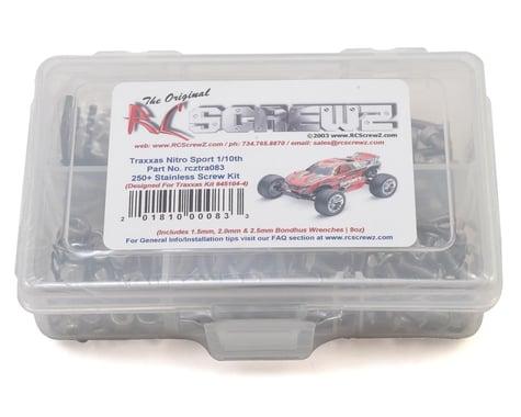 RC Screwz Traxxas Nitro Sport Stainless Steel Screw Kit