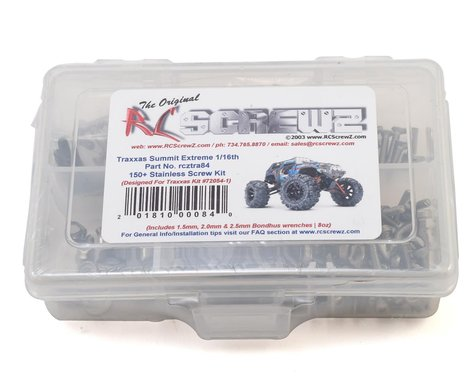 RC Screwz Traxxas 1/16 Summit Stainless Steel Screw Kit
