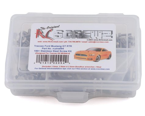 RC Screwz Traxxas Mustang GT Stainless Steel Screw Kit