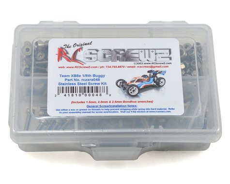 RC Screwz XRAY XB8e 1/8th Buggy Stainless Steel Screw Kit