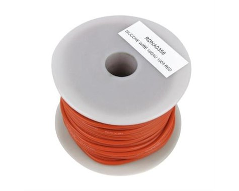 Radient SILICONE WIRE 16GAU XXX STRAND 100IN RED