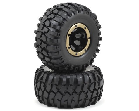 Redcat Pre-Mounted Crawler Tire w/Secure Ring Rim (2)