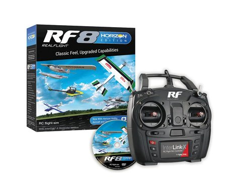 RealFlight 8 Horizon Edition Flight Simulator w/Interlink-X Transmitter