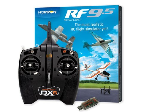 RealFlight 9.5 Flight Simulator Combo w/Spektrum DXS & WS2000
