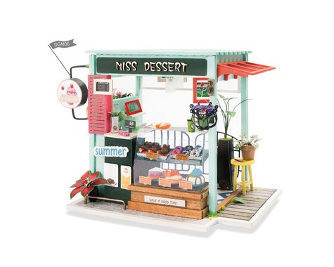 Robotime Rolife Miniature Dollhouse-Wooden Mini House Set - Dessert Shop
