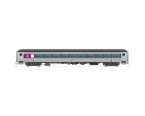 N New Haven 8600-Series Coach MBTA PurpWBnd #2562