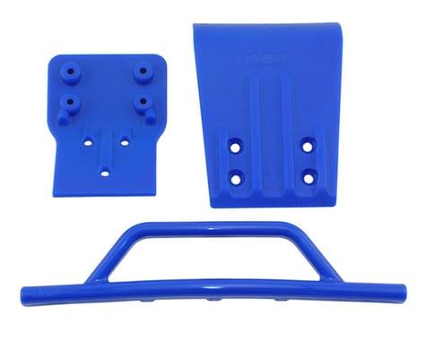 RPM Traxxas Slash 4x4 Front Bumper & Skid Plate (Blue)