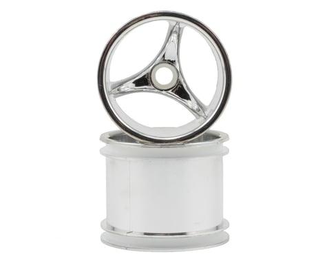 "RPM ""Talonz 3-Spoke"" Traxxas Nitro Front Wheels (2) (Chrome) (Pins)"