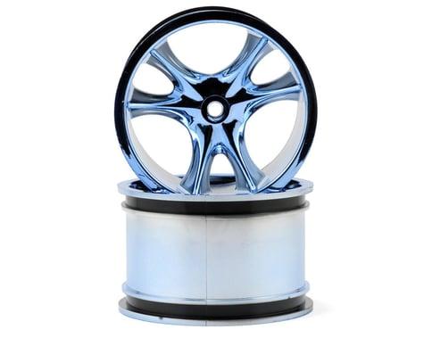RPM Monster Clawz Monster Truck Wheel (2) (Standard Offset) (Blue Chrome)