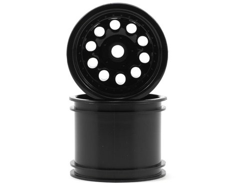 """RPM """"Revolver 10 Hole"""" Associated Front Wheels (2) (Black) (Pins)"""