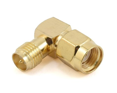 RaceTek 90° Right Angle SMA Adapter (RP-SMA Male to RP-SMA Female)