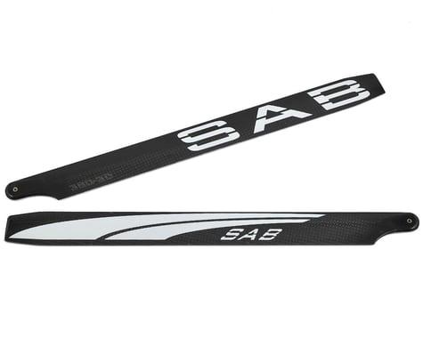 """SAB Goblin 380mm """"Blackline"""" 3D Carbon Fiber Main Blades"""