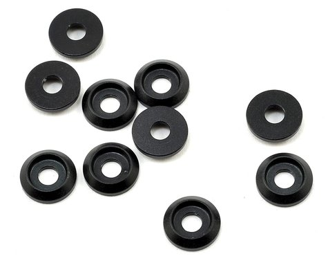 SAB Goblin Aluminum Finishing Washers (Black Matte) (10)