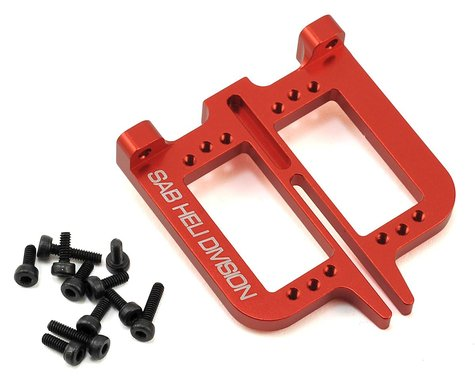 SAB Goblin Aluminum Front Servo Support Set (2) (Red)
