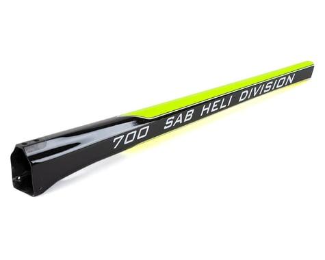 SAB Goblin Carbon Fiber Tail Boom (700 Size) (Yellow/Carbon)