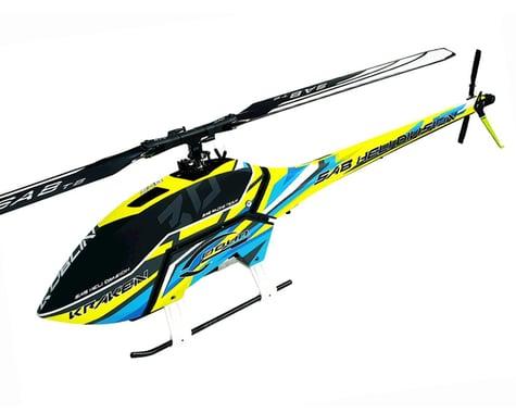 SCRATCH & DENT: SAB Goblin Kraken 700 Electric Helicopter Kit (Yellow/Blue)