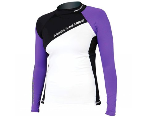 Magic Marine Energy Rash Vest Long Sleeve Ladies, Purple (XL)