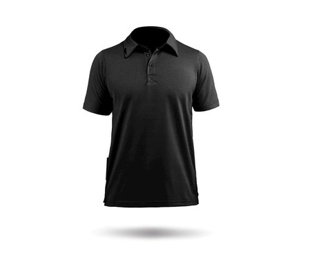 Zhik PolyCotton Short Sleeve Polo Shirt (Black)