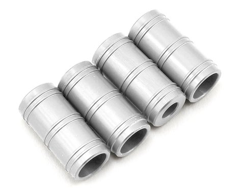 Samix SCX10 Aluminum Shock Reservoir Set (Silver) (4)