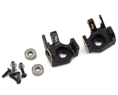 Samix SCX10 II Brass Heavy Duty Steering Knuckles (Black) (2)