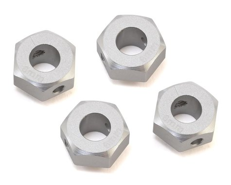 Samix TRX-4 Aluminum 12mm Hex Adapter (Silver) (4) (+6mm Offset)