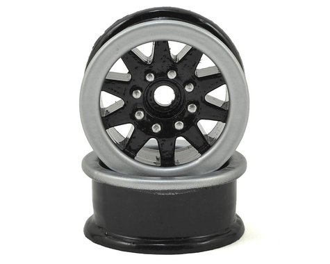 Scale By Chris 1.9 Trailer Wheels (2) (Black)