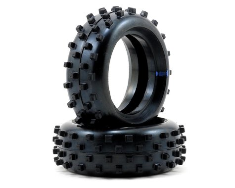 "Schumacher ""Block"" 1/10 Buggy Front Carpet Tires (2) (Blue)"