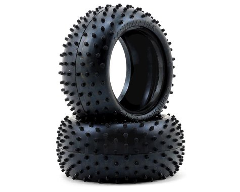 "Schumacher ""Mini Spike 2"" 2.2"" 1/10 Buggy Rear Carpet Tires (2) (Blue)"