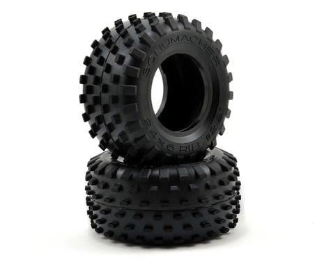 "Schumacher ""Stagger Rib"" 2.2"" 1/10 Truck Front Carpet Tires (2) (Yellow)"