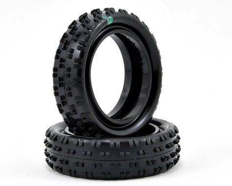 "Schumacher ""Cut Stagger"" Low Profile 2.2"" 1/10 2WD Buggy Front Turf Tires (2) (Green)"