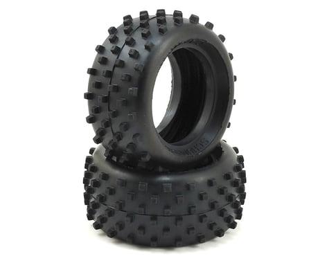 "Schumacher ""Block"" 1/10 Buggy Rear Carpet Tires (2) (Yellow)"