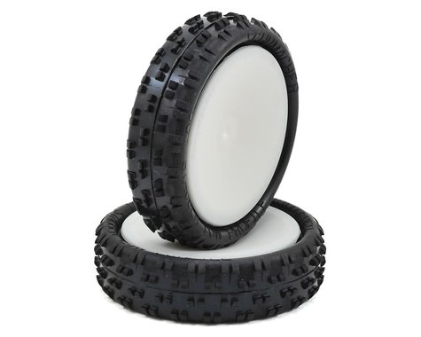 """Schumacher """"Cut Stagger"""" Pre-Mounted 2.2"""" 2WD Buggy Front Turf Tires (2) (Yellow)"""