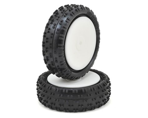 """Schumacher Wide """"Stagger Rib"""" 2.2"""" 1/10 4WD Front Buggy Carpet Tires (2) (Yellow)"""