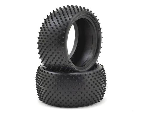 "Schumacher ""Mini Dart"" 2.2"" Buggy Rear Turf Tire (2) (Silver)"