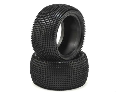 """Schumacher Cactus 2.2"""" Rear 1/10 Buggy Carpet Tire (2) (Silver)"""