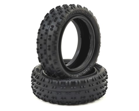 """Schumacher Wide """"Stagger Rib"""" 2.2"""" 1/10 4WD Buggy Front Carpet Tires (2) (Blue)"""